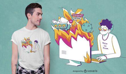 Design engraçado de camiseta anti 2020