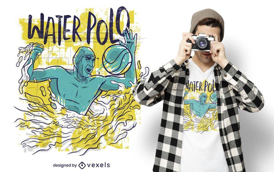 Water polo sport t-shirt design
