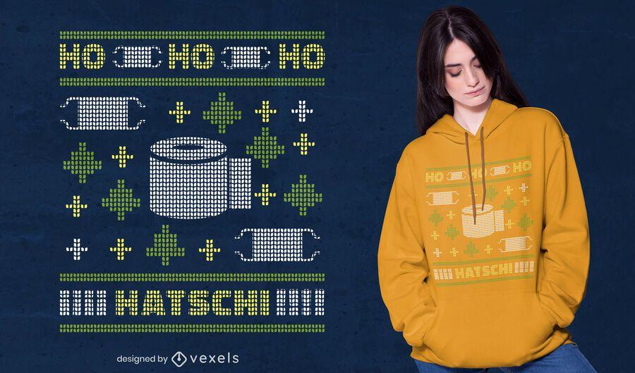 Ho ho ho hatschi t-shirt design