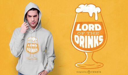 Diseño de camiseta de señor de las bebidas.