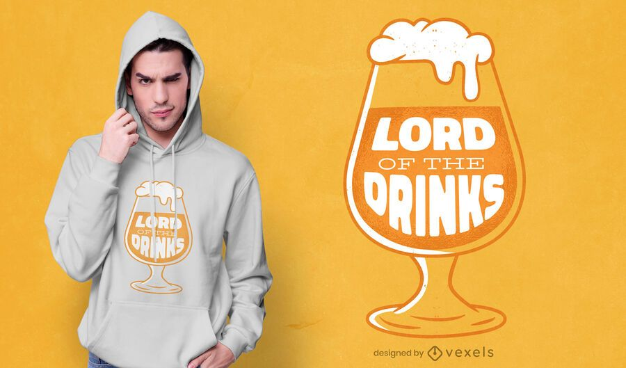 Lord of drinks t-shirt design