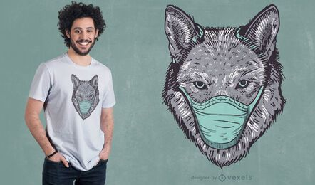 Design de t-shirt de máscara facial Wolf