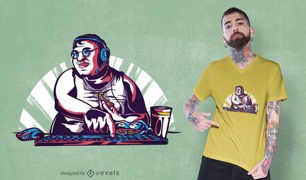 Design de camiseta de programador de pizza