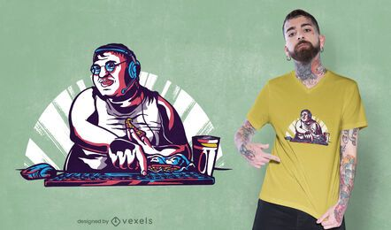 Diseño de camiseta de programador de pizza.