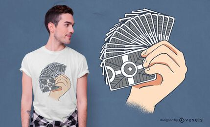 Diseño de camiseta card flourish