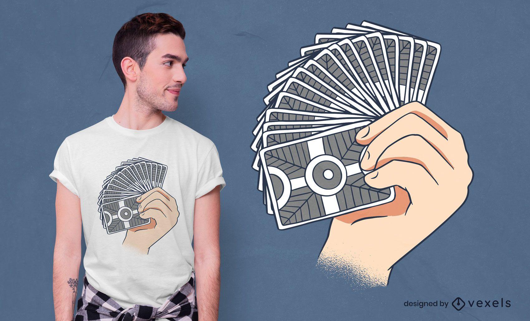 Design de t-shirt de florescer cartão