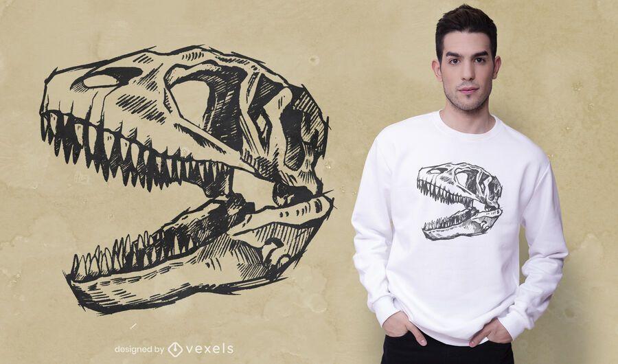 Carcharodontosaurus skull t-shirt design