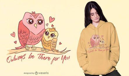 Diseño de camiseta Owlways be there