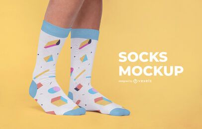 Design de maquete de padrão de meias