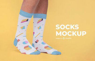 Diseño de maqueta de patrón de calcetines