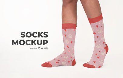 Diseño de maqueta de calcetines psd