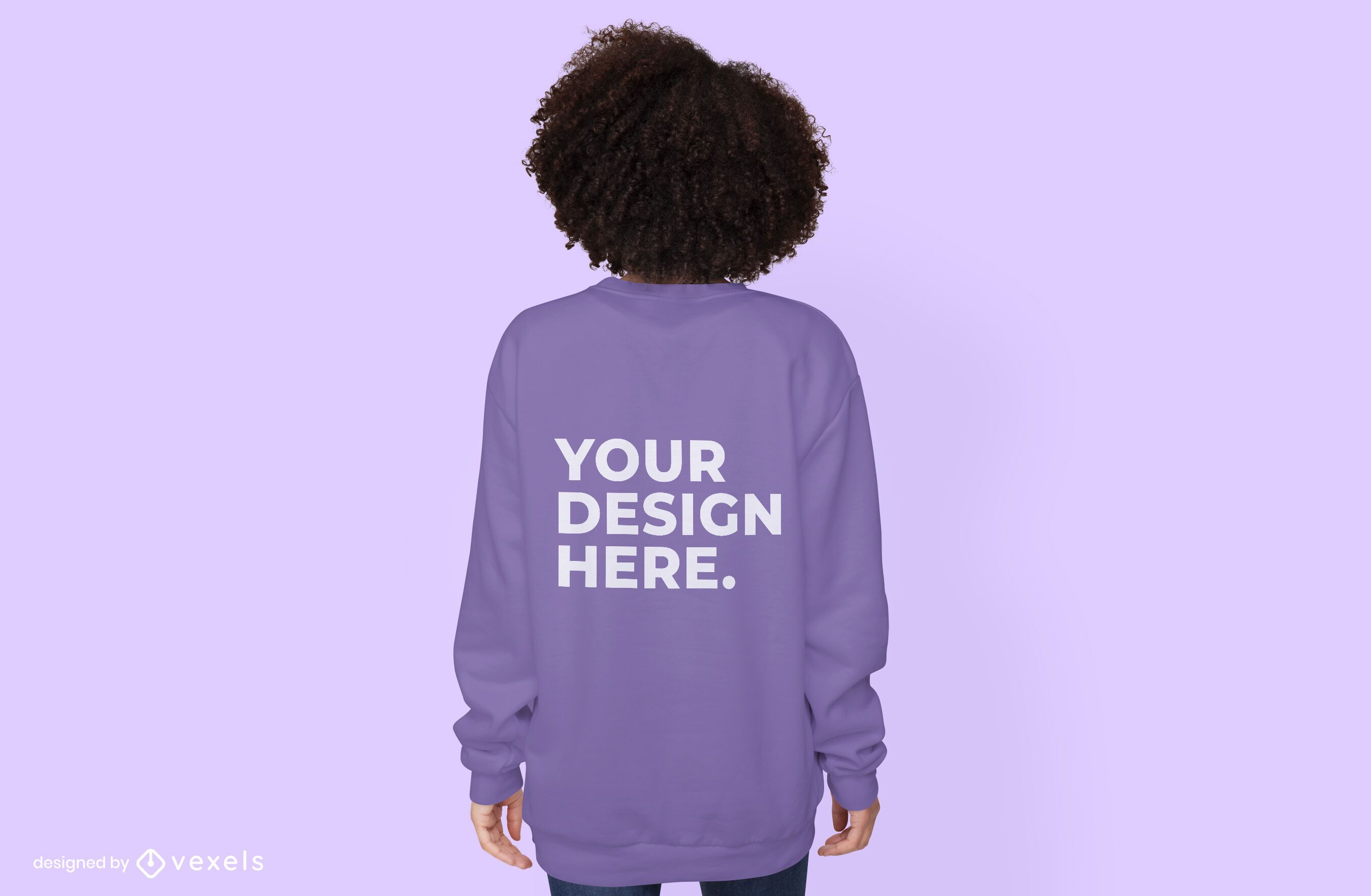 Back female model hoodie mockup design