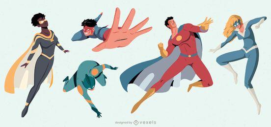 Pacote de personagens de super-heróis