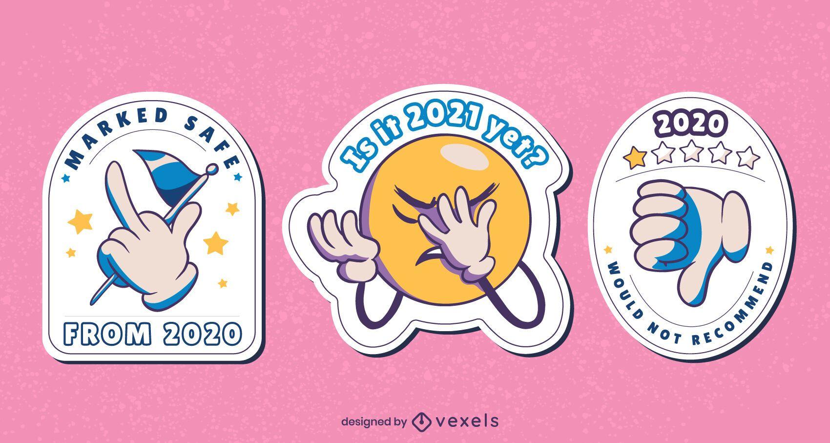 Anti 2020 sticker design set