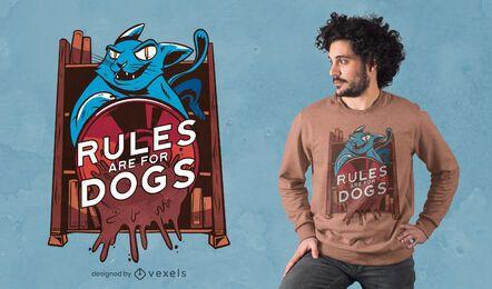 Reglas para el diseño de camisetas de perros.