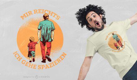 Salir a caminar diseño de camiseta