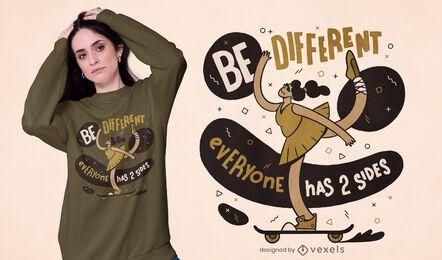 Todo mundo tem um design de camiseta de 2 lados