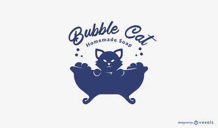 Homemade soap logo template