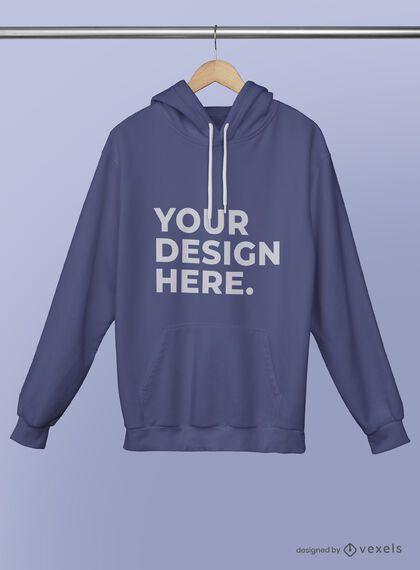 Hanged hoodie mockup psd design