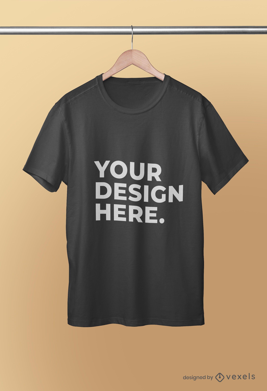 Projeto psd de maquete de camiseta pendurada