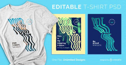 Welliges skalierbares T-Shirt PSD