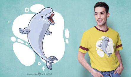 Design de camiseta de baleia beluga