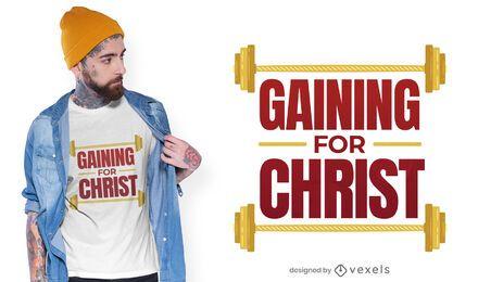 Ganar para el diseño de camiseta de cristo