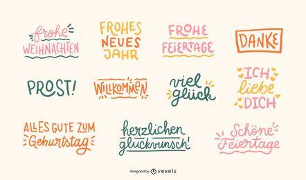 Conjunto de citas de celebración alemana