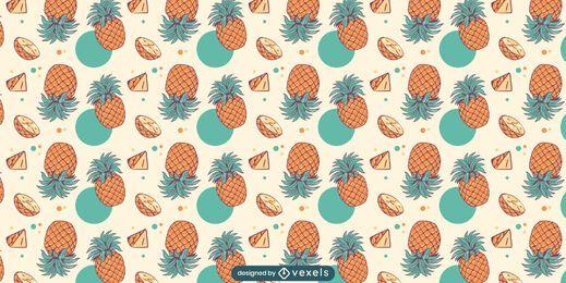 Desenho padrão de abacaxis