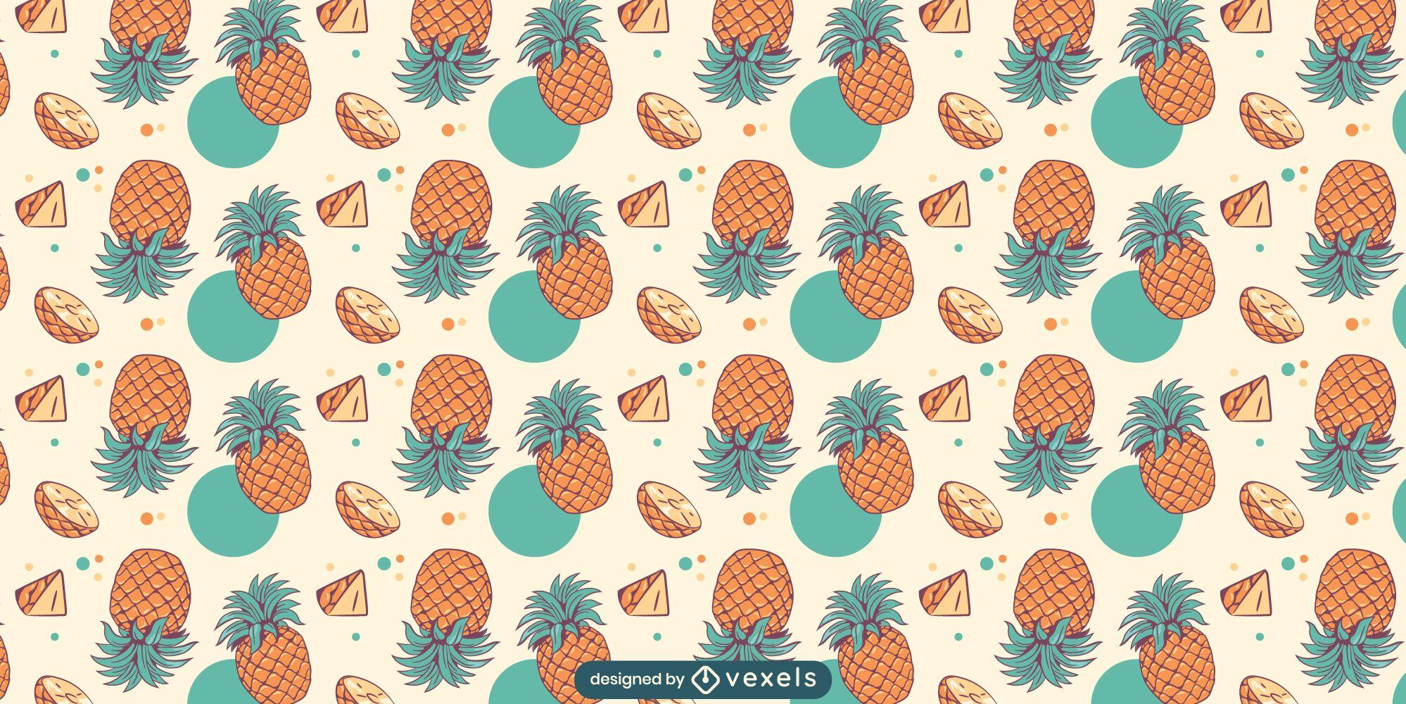 Pineapples pattern design