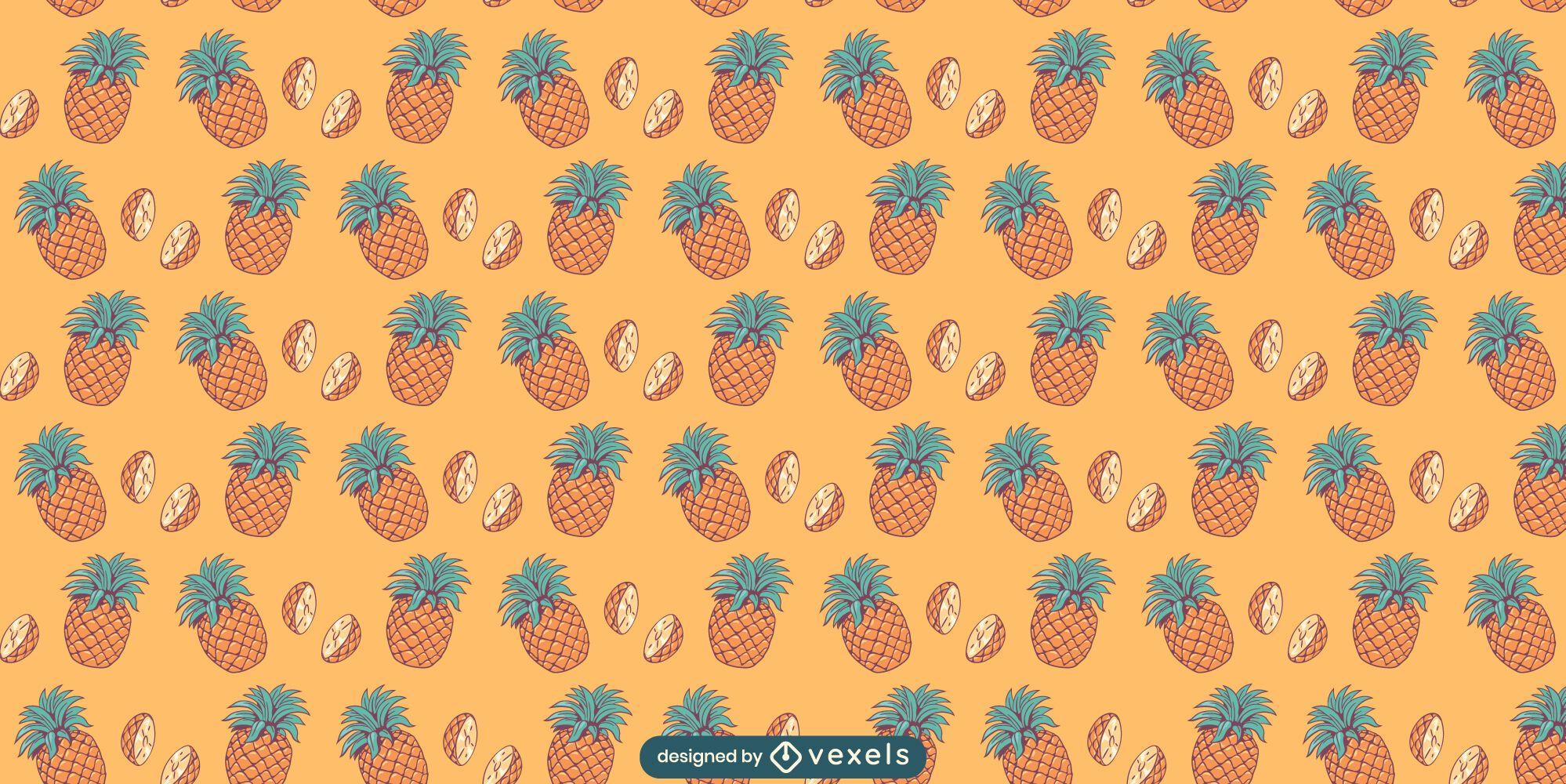 Pineapple fruit pattern design