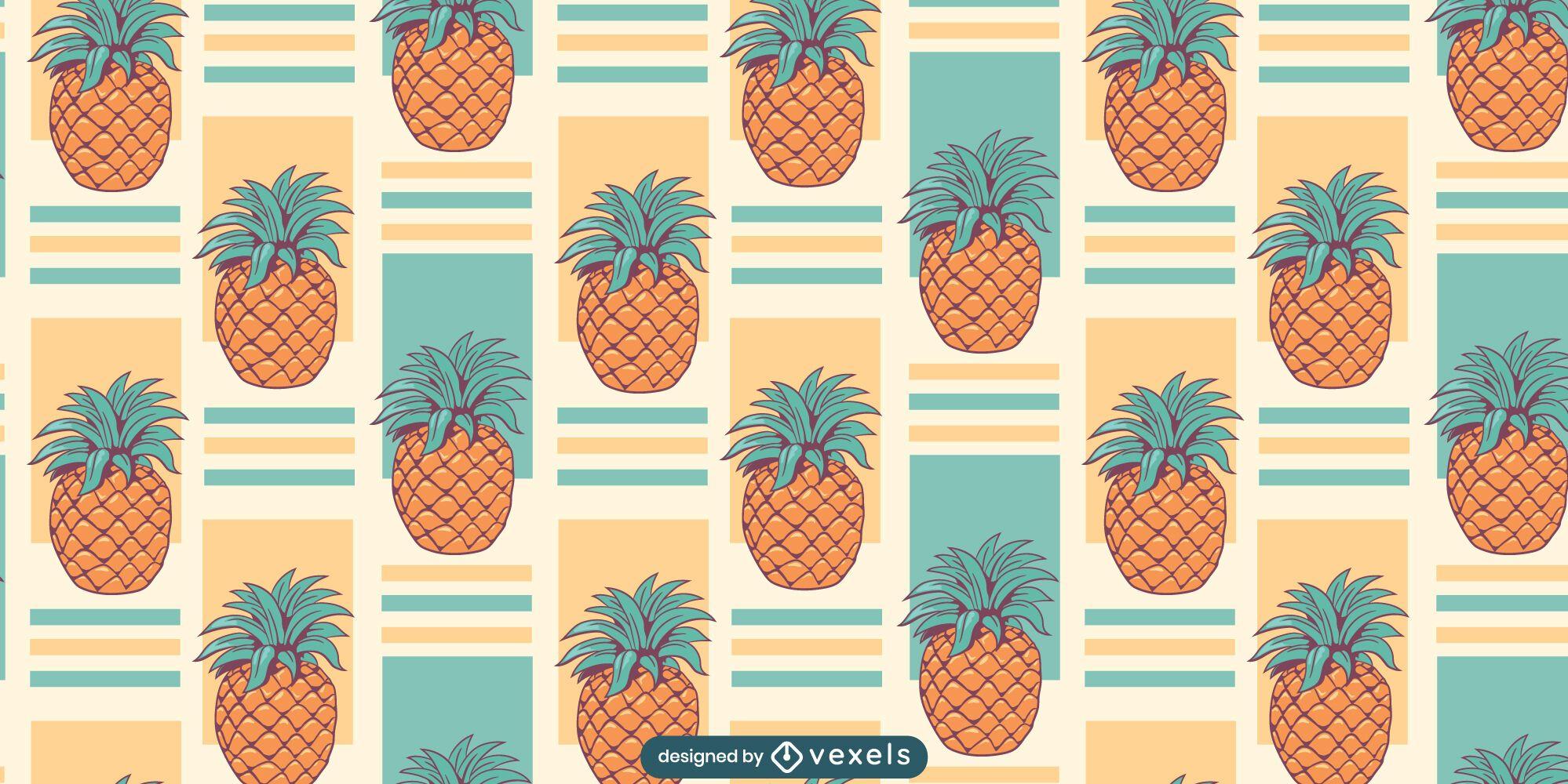 Pineapple fruits pattern design
