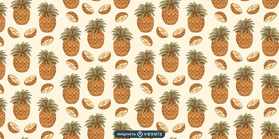 Pineapple slices pattern design