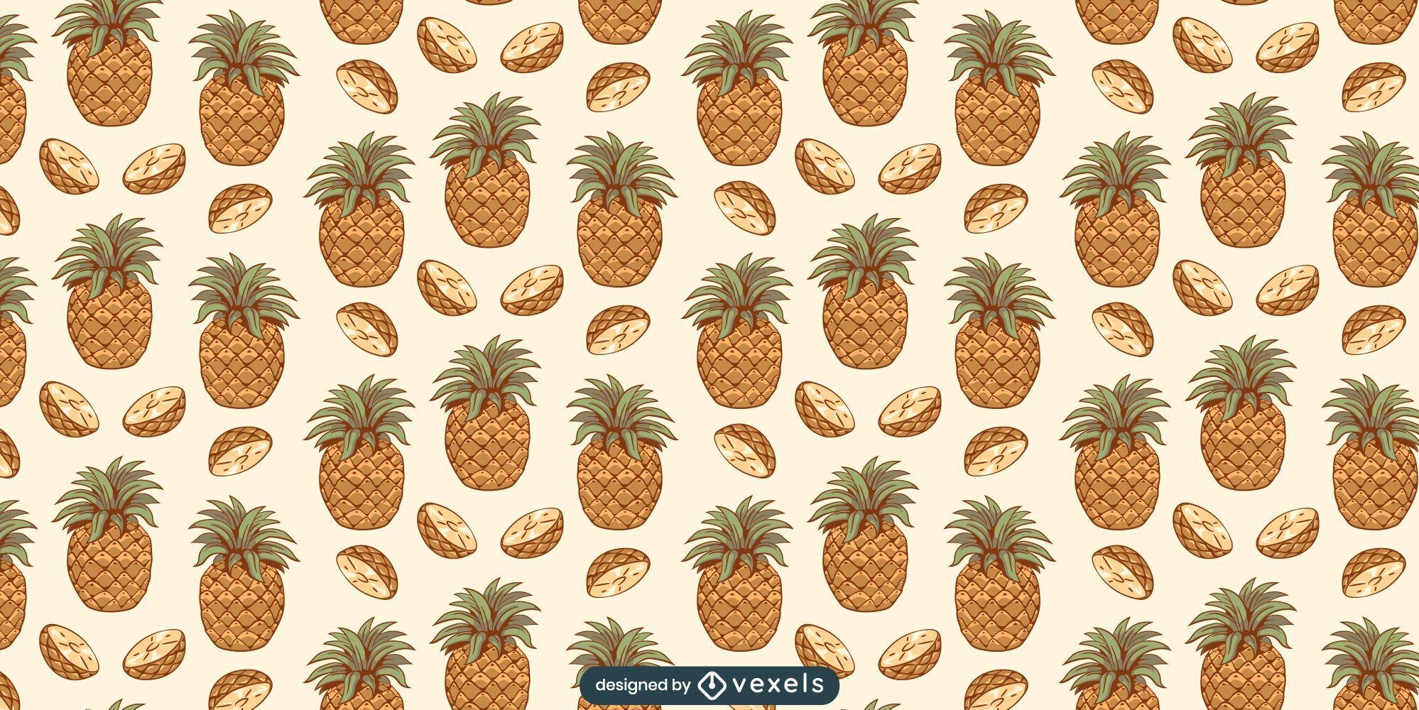 Desenho de padr?o de fatias de abacaxi