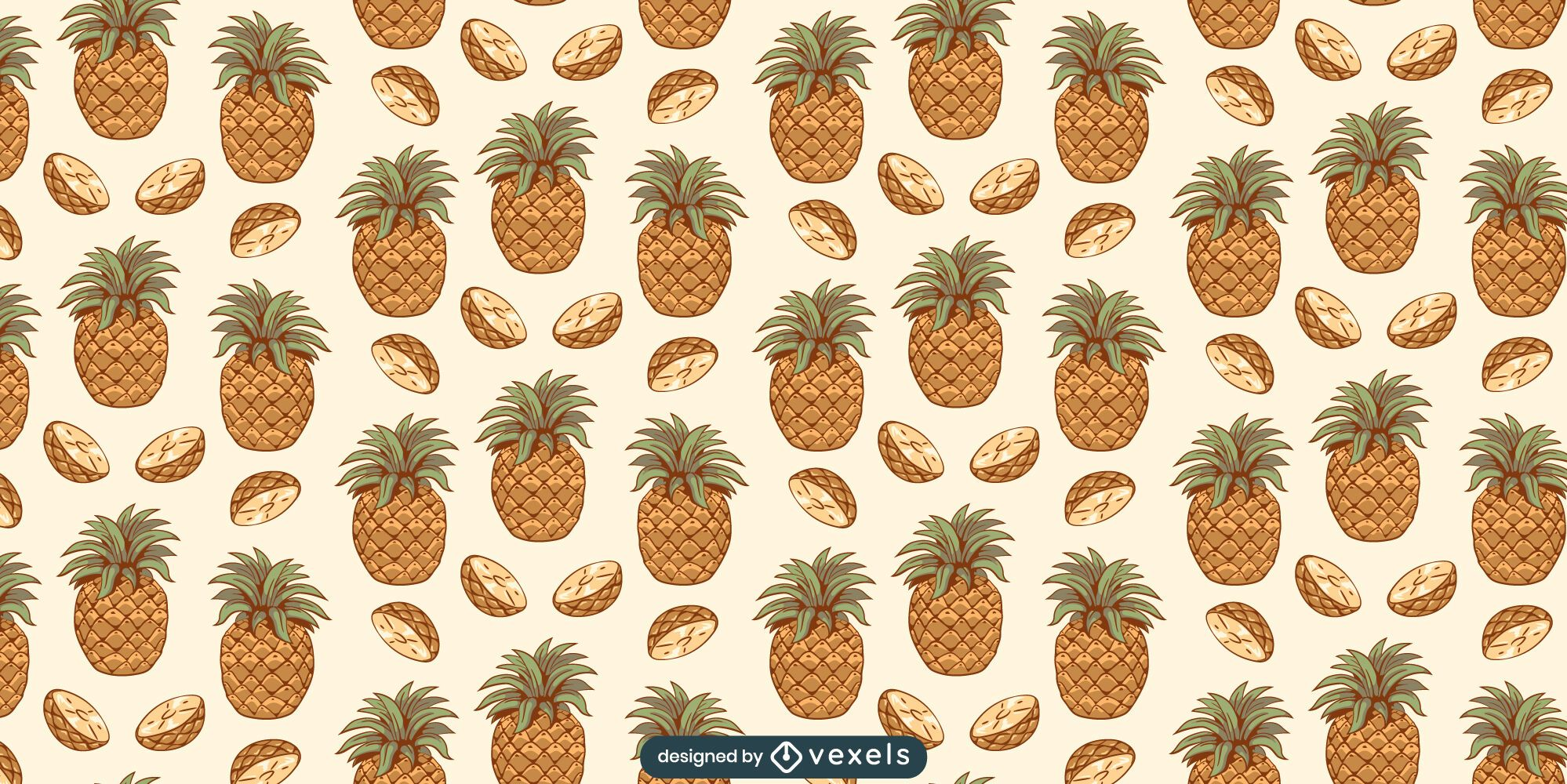 Pineapple slices pattern design