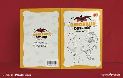 Diseño de portada de libro de punto a punto de dinosaurio