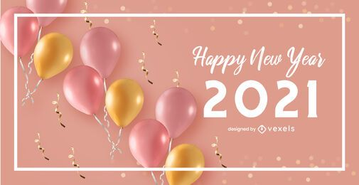 Happy new year 2021 celebration background design
