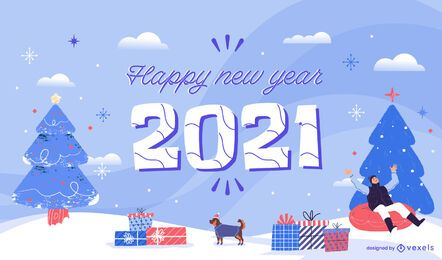 Happy 2021 new year background