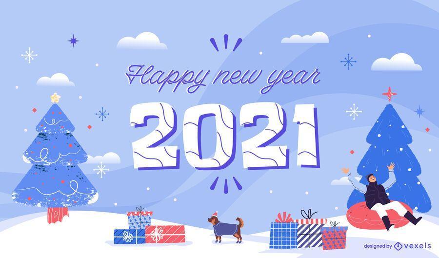 Happy 2021 new year background