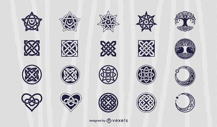 Celtic elements illustration set