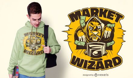 Market wizard t-shirt design