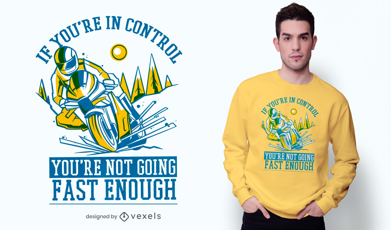Design de camiseta não rápido o suficiente