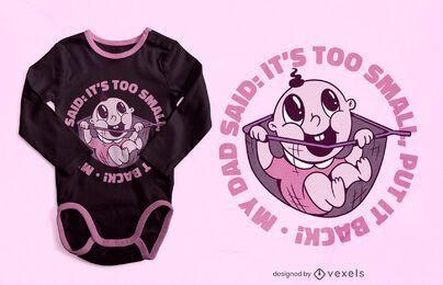 Diseño de camiseta de bebé con red de pesca.