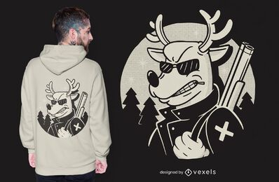 Design de camiseta de vingança de Rudolph