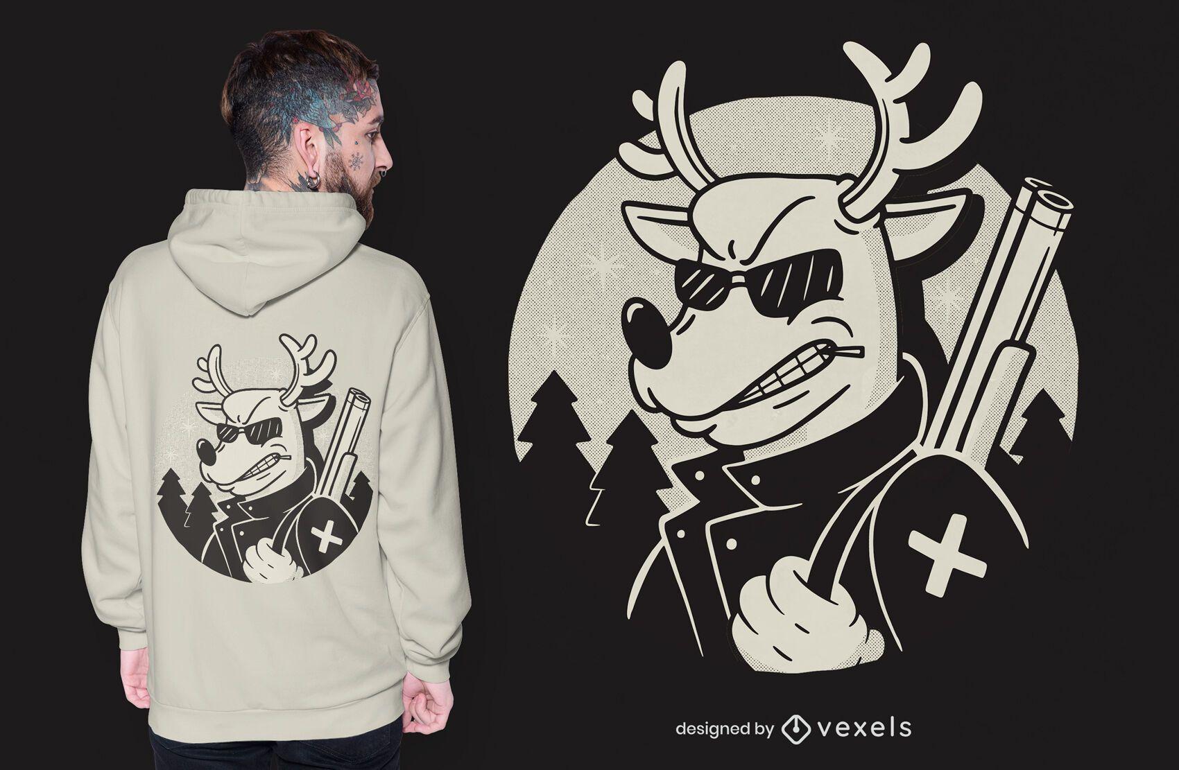 Rudolph revenge t-shirt design