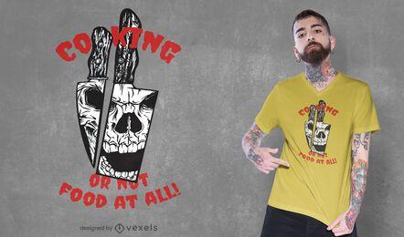 Design de t-shirt com caveira Knives