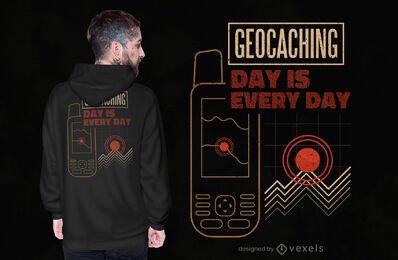 Design de camiseta do dia de Geocaching