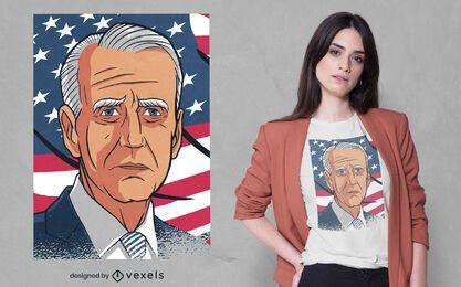 Diseño de camiseta con retrato de joe biden