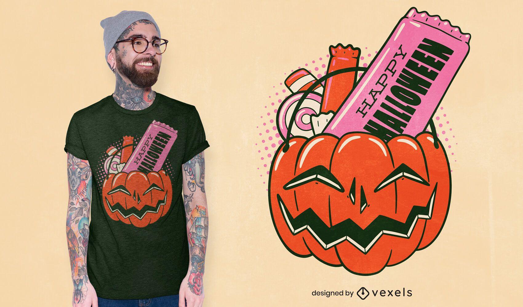 Design de t-shirt de abóbora doce