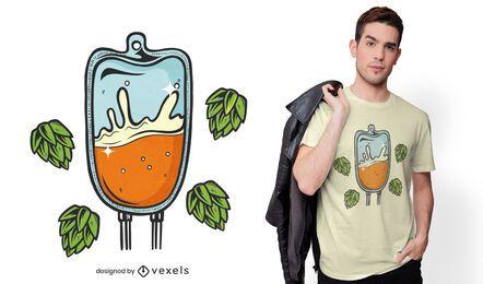 Diseño de camiseta iv beer bag